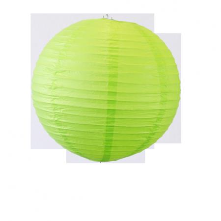 Lampion boule papier VERT – Diam 25 cm