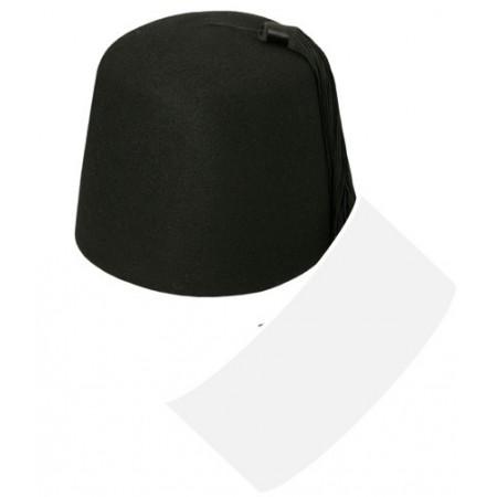 Chapeau oriental noir - feutre - Taille adulte
