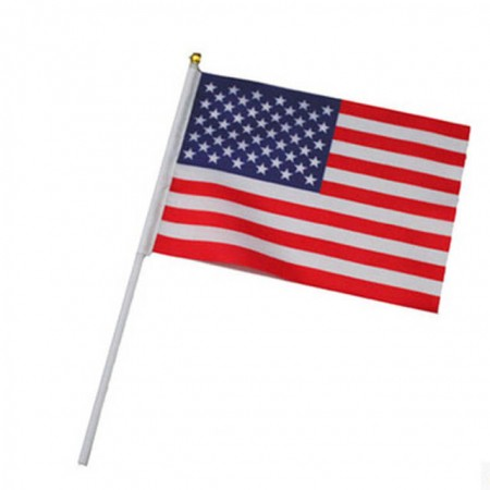 Drapeaux USA de table + ventouse x 10 - hampe 30 cm drapeau 15 x 22 cm