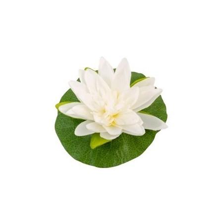 Fleur de lotus / 22 cm blanche