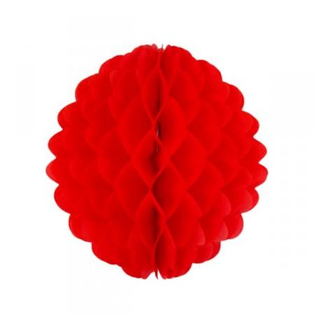 Boule rouge - papier - Diam. 25 cm