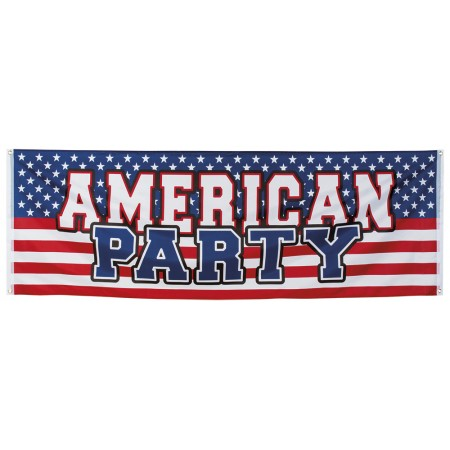 Banniere AMERICAN PARTY - tissu 74 x 220 cm