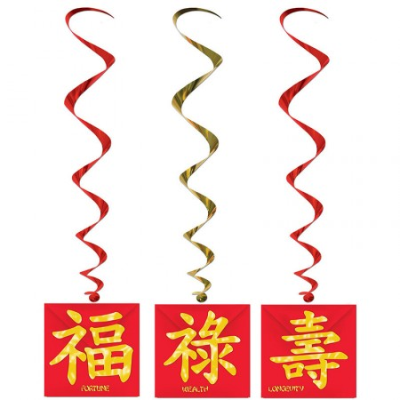Lot de 3 suspensions asiatiques 1 m
