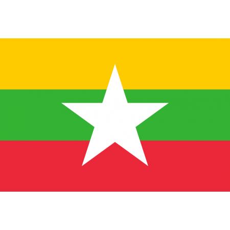 Drapeau Birmanie - tissu - 90 x 150cm