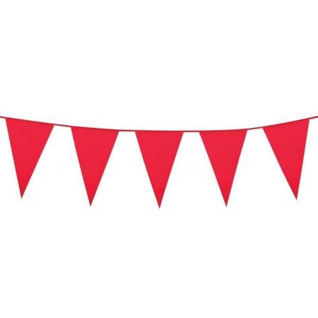 Guirlande de fanions rouge - 10 m  Fanion de 30 x 20 cm