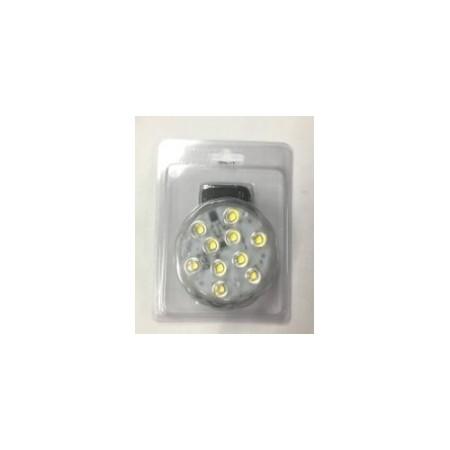 Pavet LED blanc pur, avec télécommande