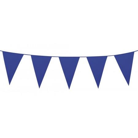 Guirlande de fanions bleus - 10 m  Fanion de 30 x 20 cm