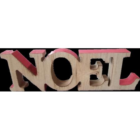 NOEL en bois sur socle - 23 x 15cm