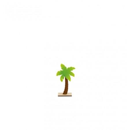 Palmier en feutrine et bois sur socle 13 x 25 cm
