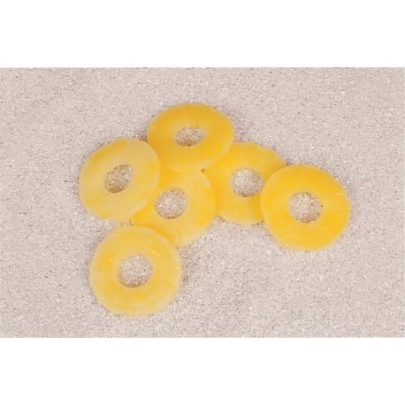 6 tranche d'ananas - pvc - diametre 8 cm