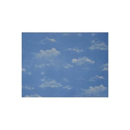 """Tissu """" Ciel Nuageux"""" larg 150 cm  (vendu au mètre)l"""
