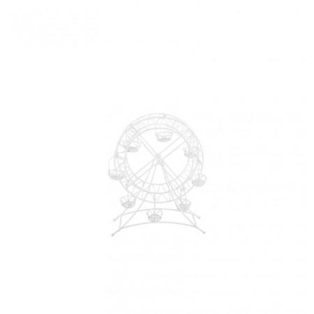 Grande roue blanche en métal 27 x 25 x 35 cm