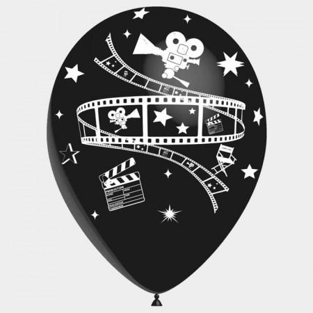Ballons motif Cinéma /  pochette de 8 - Diam. 29cm