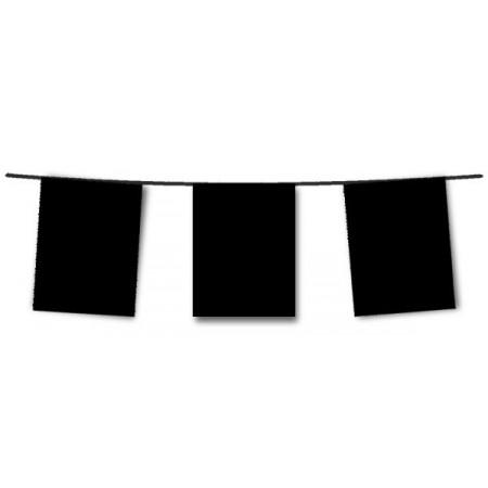 Guirlande de 10 fanions noirs  20  x 30 cm - plastique - Long.420cm