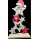 Sapin d'étoiles en bois - Haut 38cm