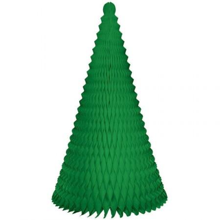 Sapin conique vert - papier alvéolé / Hauteur 40 cm