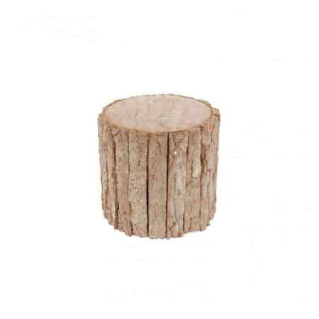 Tronc d'arbre en bois 20 x 20 x 19 cm