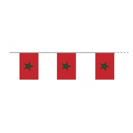 Guirlande Maroc  - 10 fanions 20 x 30 cm - papier - Long.420cm