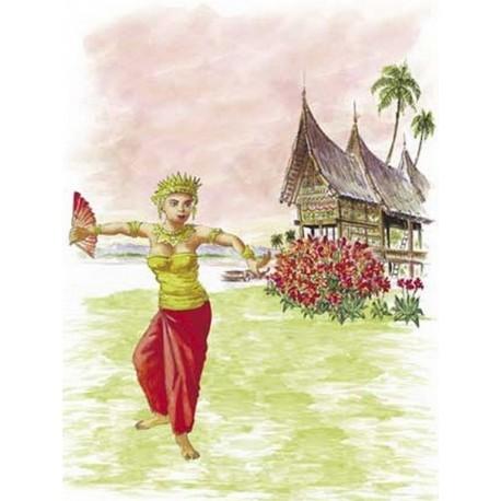 Affiche Danseuse Thaî - 50 x 70cm