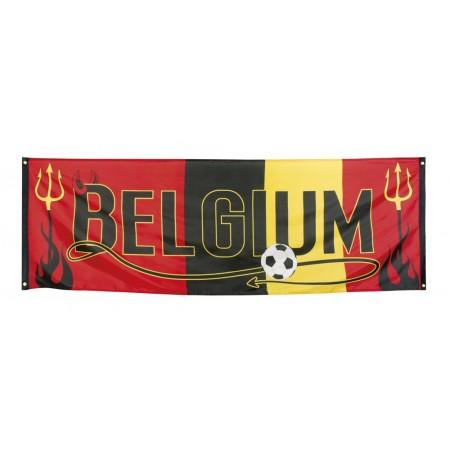 Bannière Belgique en polyester de 74 x 220 cm