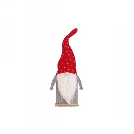 Père Noel Feutrine - bonnet à pois 31cm