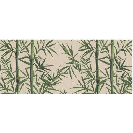 Tissu imprimé Bambou - coupe de 1m -  coton et polyester larg 140 cm