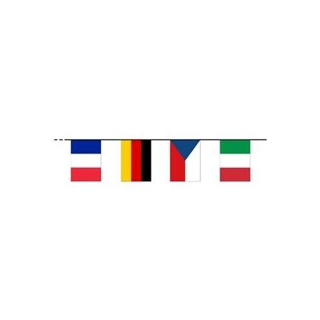 Guirlande 16 pays participants Europe - Tissu - Long : 750 cm