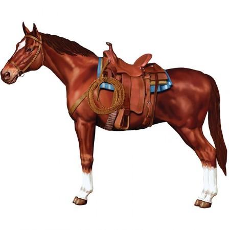 Decoupe de cheval sur carton - long 97 cm