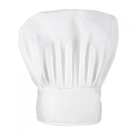 Toque de chef cuisinier - polyester et coton - Taille adulte
