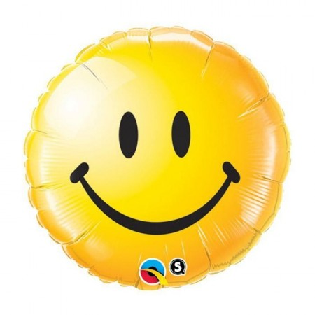 Ballon smiley Jaune - 45 cm