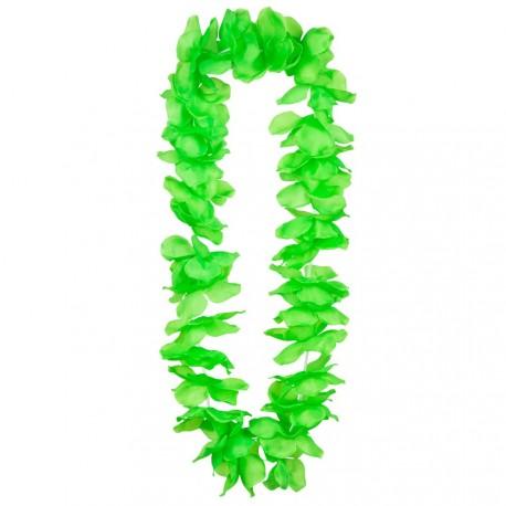 Collier de fleurs vertes - Polyester / Taille Adulte