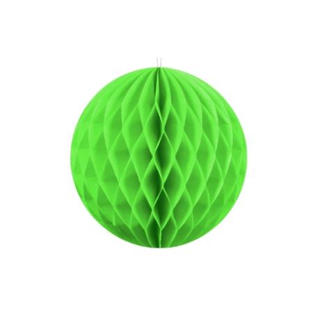 Boule vert pomme  - papier - Diam. 25 cm