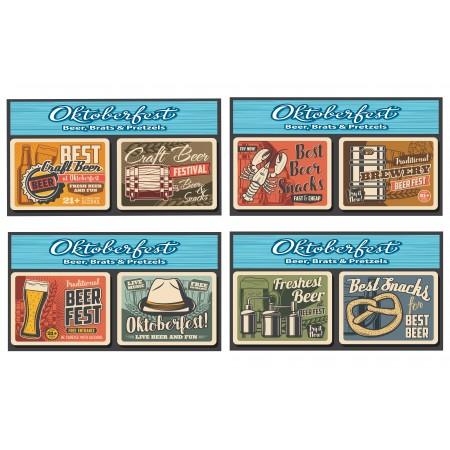 Mobiles Oktoberfest x 4 - carton - 27 x 49 cm