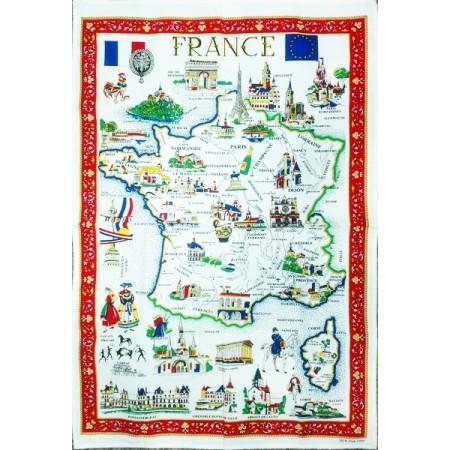 Tissu Imprimé France  - Coton - 55 x 88 cm