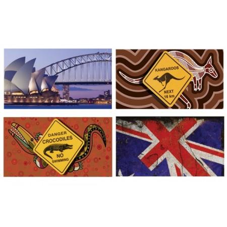 Mobiles Australie  x 4 - carton - 27 x 49 cm