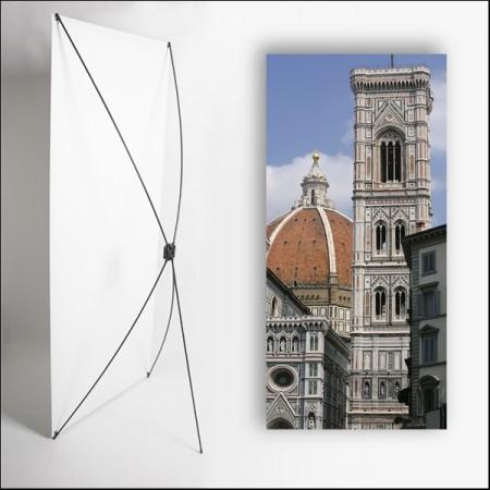 Kakemono Italie Monument  - 180 x 80 cm sur Toile M1 avec structure  X- Banner