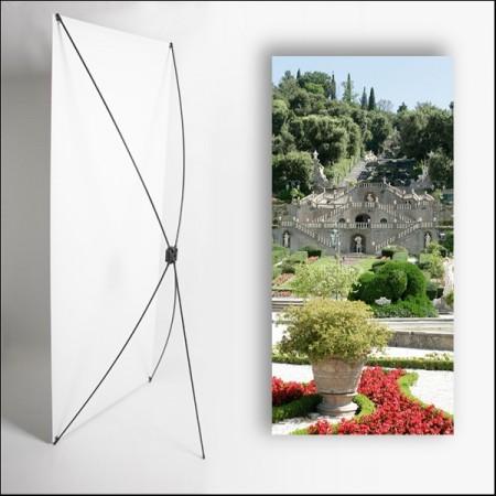 Kakemono Italie Jardin  - 180 x 80 cm sur Toile M1 avec structure  X- Banner