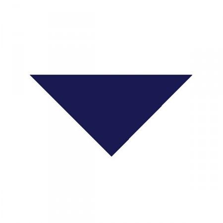 Bandana bleu marine - tissu - 57 x 57 x 83cm