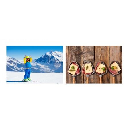 Mobiles Montagne hiver x 2 - carton - 27 x 49 cm