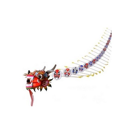 Dragon - bois/tissu - Long 300cm