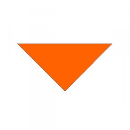 Bandana orange - tissu - 57 x 57 x 83cm