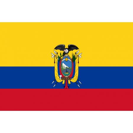 Drapeau Equateur - tissu - 60 x 90 cm