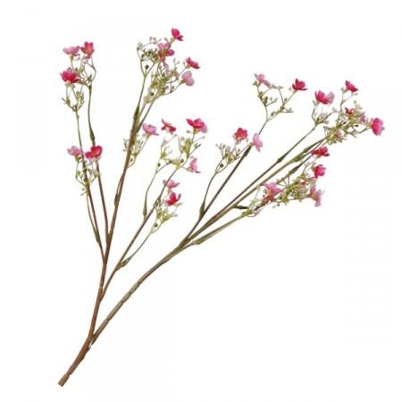 Branche de fleurs printanières artificielles - Tissu / pvc - Long 56cm
