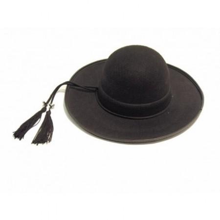 Chapeau Breton - feutre noir - taille adulte