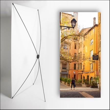 Kakemono Bouchon Lyonnais 1 - 180 x 80 cm - Toile M1 avec structure  X- Banner