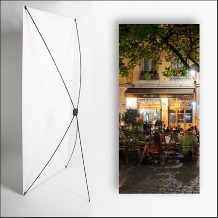 Kakemono Bouchon Lyonnais 4 - 180 x 80 cm - Toile M1 avec structure  X- Banner