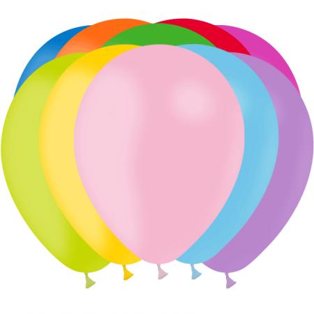 100 Ballons multicolores en latex / Diam. 28 cm