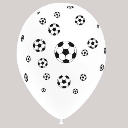 Ballons motif '' Ballon de Foot'' x 8 - Diam. 29cm