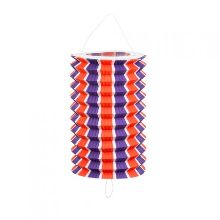 Set 12 lampions tricolores - papier - hauteur 20 cm diamètre 12 cm