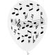 """Pochette de 8 ballons motifs """"musique """" - Diam. 29cm"""